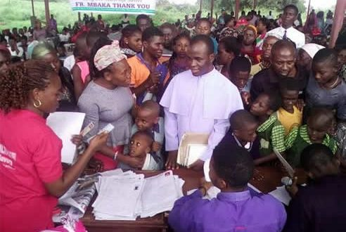 Rev. Fr  Mbaka is a multi-life saver; pays tuition fees for over 6,000 indigent students, extends charity to others.