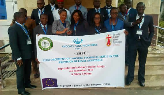 Avocats Sans Frontières France Holds Training for Lawyers
